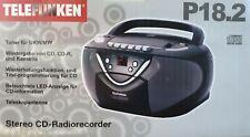 Telefunken P18.2 Stereo Radio-CD-Player mit Kassettenrecorder Schwarz