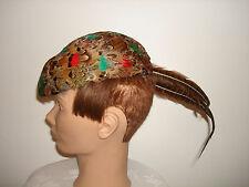 Vintage Original Ditzie Creation American Design Pheasant Feather Derby Hat 22