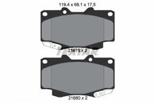 Bremsbelagsatz, Scheibenbremse Textar 2168003 für TOYOTA