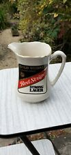Vintage Red Stripe Strong Lager Pub water Advertising Jug By Gold Print 99p...