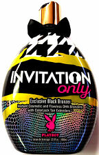 Invitation Only Black Bronzer Tanning Lotion By Playboy Tans 13.5 Oz