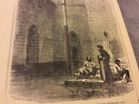 Antique Book Print - The Nilometer, Near Cairo - 1900
