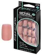 ROYAL NAIL TIPS 24 FALSE FAKE NAILS CHOICE OF 7 COLOUR RED PINK PURPLE GLEY TIP