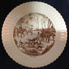 Fox Hunt Hunting Royal Cauldon Plate Brown and White The Kill