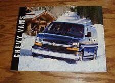 Original 2003 Chevrolet Van Deluxe Sales Brochure 03 Chevy