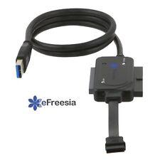 """NEW eFreesia USB 3.0  SATA IDE 2.5"""" 3.5"""" 5.5"""" Hard Drive Converter cable LED"""