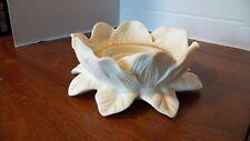 Partylite Bisque Porcelain Big Blossom Tea Light Votive Candle Holder
