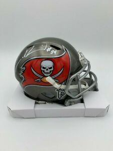 Lavonte David signed 2019 Tampa Bay  Buccaneers speed mini helmet COA/Holo