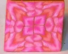 "polymer clay cane, raw, square, Kato, Premo # 91252  7/8"" x 1 5/8"" 1 ounce"