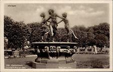 København Kopenhagen Dänemark s/w Postkarte ~1920/30 Danserindebrønden Brunnen