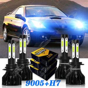 For Toyota Celica 2000-2002 9005+H7 Headlight LED 4 x Bulbs Conversion Kit 8000K
