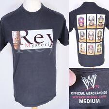 Vintage WWE Rey Mysterio Black T Shirt M Wrestling Luchador Underground TNA AAA