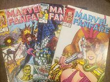 Set 3 Marvel Fanfare 11-13 Black Widow All Signed George Perez art comic book