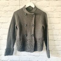 Mint Velvet Grey  cardigan Size 10    Smart Casual Warm Wool Blend