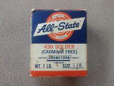All State 430 Silver Solder 1 Lb Spool 18