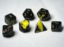 Crystal Caste RPG Dice Sets: Yellow Oblivion Polyhedral 7-Die Set CYC06497