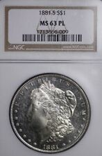 1881-S Morgan Silver Dollar NGC MS63 PL FREE SHIPPING 2