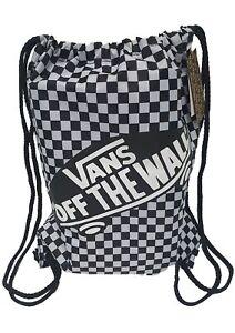 Vans School Uniform Shoe Boot Bag Black White Checkerboard PE Sports Drawstring