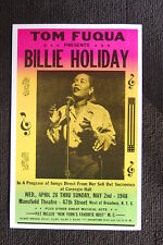 BILLIE HOLIDAY Tour Poster 1948 Mansfield