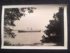 1931 SS Roma Ocean Liner Ship Vintage Original Percey Speer Photo T4