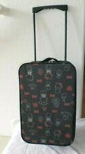 NWT HELLO KITTY Sanrio black luggage rolling suitcase wheels Japan import