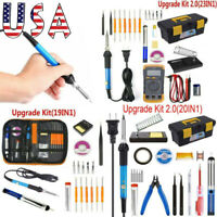 60W Electric Soldering Iron Gun Tool Kit 110V Welding Desoldering Pump Tool Set⭐