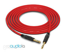 "Canare Quad L-4E6S Cable | Neutrik Gold 1/4"" TRS | Red 225 Feet | 225 Ft. | 225'"