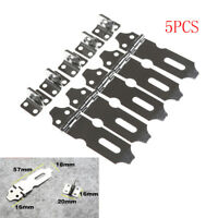 5pcs Stainless Steel Home Drawer Door Safety Padlock Latch Hasp Staple Parts_3C