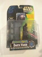 STAR WARS POWER OF THE FORCE ELECTRONIC DARTH VADER GLOWING LIGHTSABER MOSC NEW