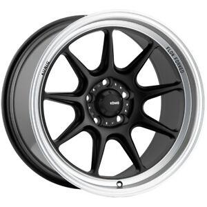 "Konig 105MB Countergram 15x7.5 4x100 +35mm Matte Black Wheel Rim 15"" Inch"