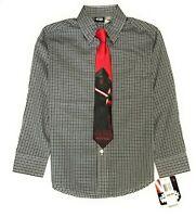 Star Wars Bigger Boys' Sith Lord Dress Shirt and Tie, Black