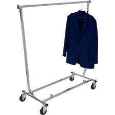 Econoco Collapsible Rolling Clothing Rack Chrome 65inhx48inw Model Rcw4