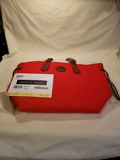 Dooney & Bourke Red Nylon Braided Leather Tote Bag BRAND NEW in plastic wrap