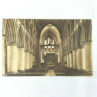 Vintage Postcard The Nave Catholic Church of St. John Norwich