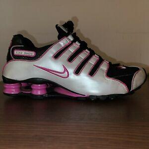 Nike Id Custom Shox Youth Size 6 Womens 7 Bat Girl Pearl Black And Pink