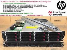 HP DL360 G7 2x E5649 12-Core 64GB RAM HP D2600 24TB 6G SAS Storage Configuration