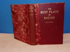 """THE BEST PLAYS OF RACINE (1936 HC) BY LACY LOCKERT """"SIGNED/INSCRIBED"""""""