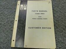 Hyster W12E Power Control Towing Winch Parts Catalog Manual Book 599782