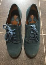 Chloe dusty blue suede shoes 37 1/2
