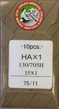 100 75/11 SHARP ORGAN FLAT SHANK 15X1 HAX1 130/705 HOME SEWING MACHINE NEEDLES
