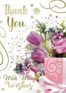 A Lovely Little Thankyou Card. Card Size: 137mm x 195mm