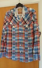 mens JOE BROWNS check shirt size XS S blue red smart casual