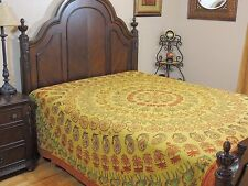 Ethnic Embroidered Rajasthan Bedding India Bedspread Cotton Bed Linens Tapestry