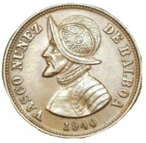 1940 PANAMA 1-1/4 CENTESIMOS KM # 15 ODD DENOMINATION 1.25 OLD WORLD COPPER COIN