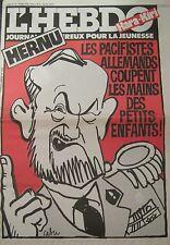 HARA KIRI HEBDO No 13 OCTOBRE 1981 CABU HERNU LES PACIFISTES ALLEMANDS ..