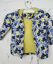 MOTHERCARE- PRETTY BLUE & YELLOW FLORAL LIGHTWEIGHT COAT - 2-3 YRS - VGC