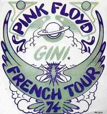 PINK FLOYD REPRO 1974 FRENCH GINI TOUR BACKSTAGE PASS STICKER . NOT CD DVD