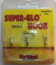 Northland Tackle #12 Super-Glo Treble Ice Hooks(3/pk)SGT12-13-RARE-SHIP N 24 HRS