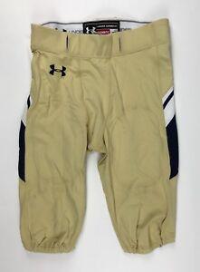 Under Armour Navy Midshipmen Icon Football Pant Men's XL Gold White $95 UF005PM