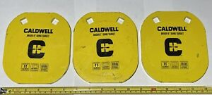 """LOT OF 3 CALDWELL AR500 5"""" GONG TARGET"""